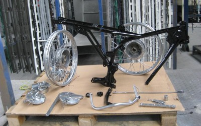 More examples of colours that can be applied to Motorbike Frames and accessories.
