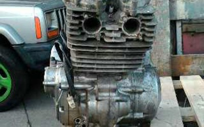 This is an engine delivered prior to any cleaning or blasting.  Any opening's, holes and wiring that needs to be protected or blocked will be done at this stage.